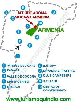 bbicacion Hotel Mocawa Plaza Armenia