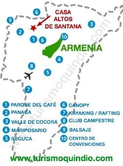 bbicacion Casa Altos de Santana