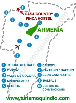 bbicacion Casa Country Finca Hostel