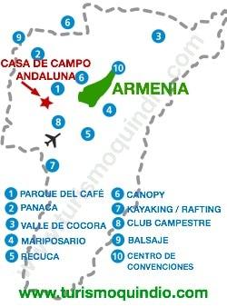 bbicacion Casa de Campo Andaluna