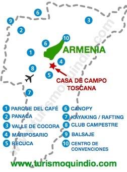 bbicacion Casa de Campo Toscana