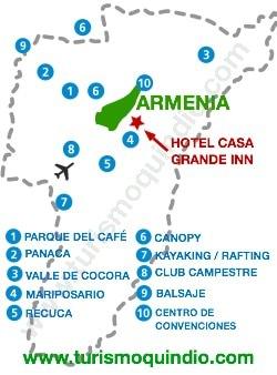 bbicacion Hotel Casa Grande Inn