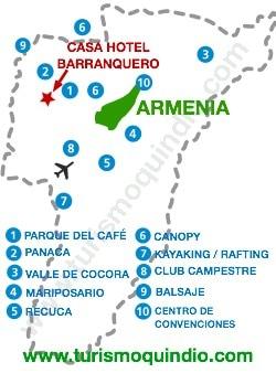 bbicacion Casa Hotel Barranquero