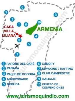 bbicacion Casa de Campo Villa Liliana