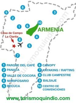 bbicacion Casa de Campo La Clarita