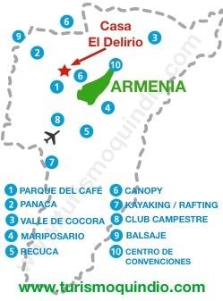 bbicacion Casa de Campo EL Delirio