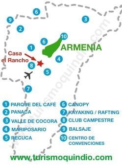 bbicacion Casa Campestre El Rancho