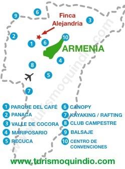 bbicacion Finca Alejandria RS