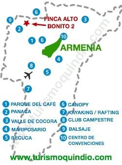 bbicacion Finca Alto Bonito 2 – Quimbaya
