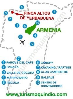 bbicacion Finca Altos de Yerbabuena