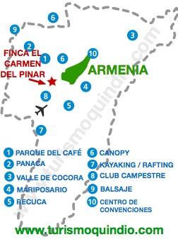 bbicacion Finca Hotel El Carmen del Pinar