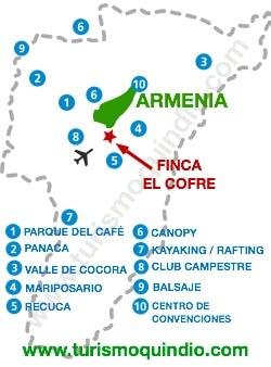 bbicacion Finca El Cofre