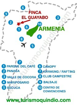 bbicacion Finca El Guayabo