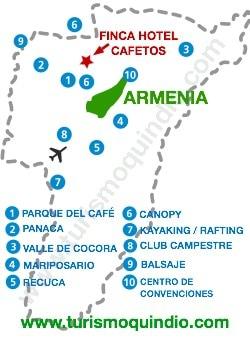 bbicacion Finca Hotel Cafetos