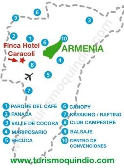 bbicacion Finca Hotel Caracoli