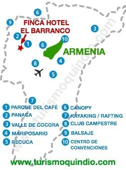 bbicacion Finca Hotel El Barranco