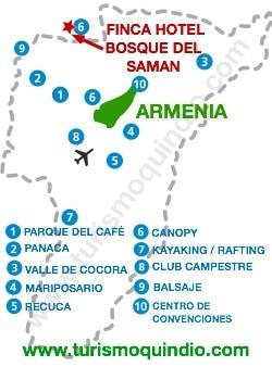 bbicacion Hotel El Bosque del Saman Alcala