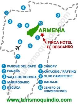 bbicacion Finca Hotel El Descanso