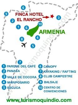 bbicacion Finca Hotel Rancho Salento