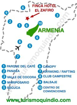 bbicacion Finca Hotel El Zafiro