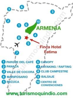 bbicacion Finca Hotel Fatima