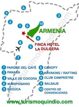 bbicacion Finca Hotel La Dulcera