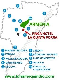 bbicacion Finca Hotel La Quinta Porra