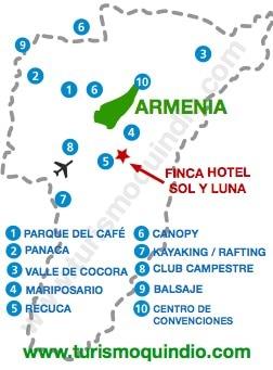 bbicacion Finca Hotel Sol y Luna