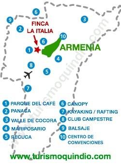 bbicacion Finca La Italia