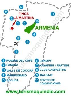 bbicacion Finca La Martina