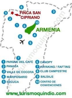 bbicacion Finca San Cipriano