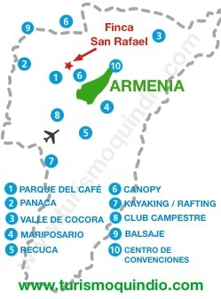 bbicacion Finca San Rafael RS