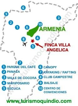 bbicacion Finca Villa Angelica