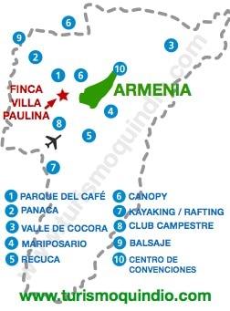 bbicacion Finca Villa Paulina