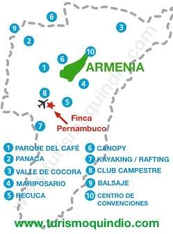 bbicacion Finca Pernambuco
