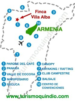 bbicacion Finca Villa Alba