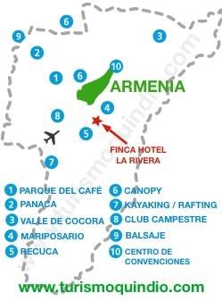 bbicacion Finca Hotel La Rivera