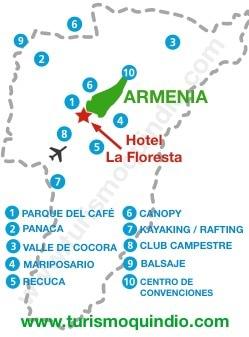 bbicacion Hotel Campestre La Floresta