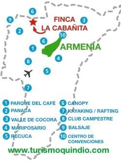bbicacion Finca La Cabañita