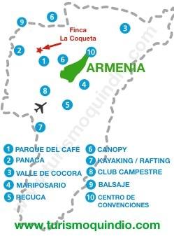 bbicacion Finca Hotel La Coqueta