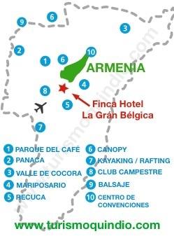 bbicacion Finca Hotel La Gran Belgica