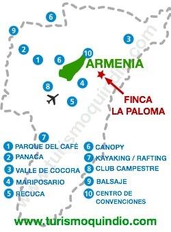 bbicacion Finca La Paloma
