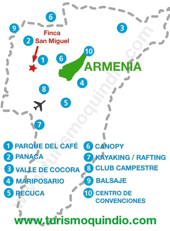 bbicacion Finca San Miguel