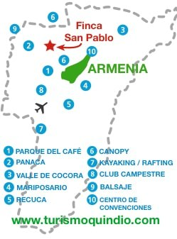 bbicacion Finca San Pablo
