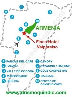 bbicacion Finca Hotel Valparaiso