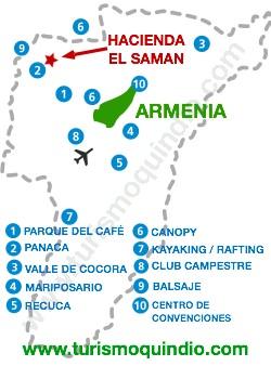 bbicacion Hacienda El Samán