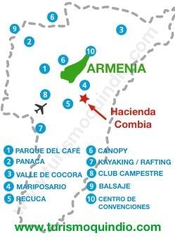 bbicacion Hacienda Combia
