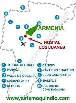bbicacion Hostal Los Juanes