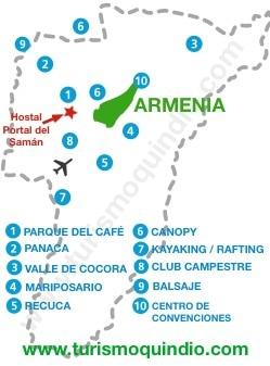 bbicacion Hotel Portal del Saman