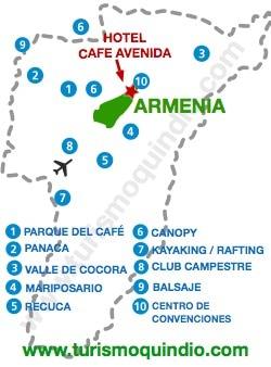 bbicacion Hotel Cafe Cafe Avenida